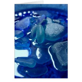 Cartão do azul do beira-mar