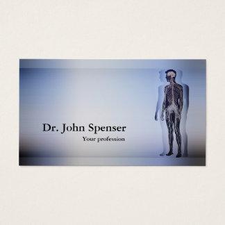 Cartão do azul do corpo humano do Chiropractor da