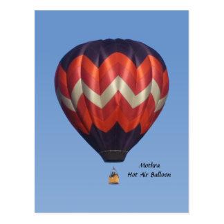 Cartão do balão de ar quente de Mothra
