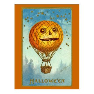 Cartão do balão de ar quente do Dia das Bruxas JOL