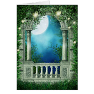 Cartão do balcão da noite de verão