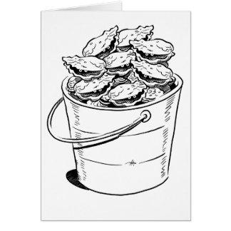 Cartão do balde da ostra