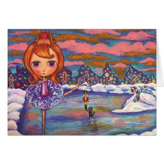 Cartão do balé do gelo do Nutcracker