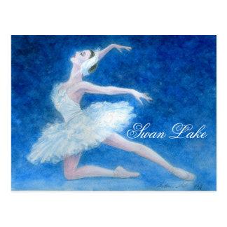 Cartão do balé do lago swan