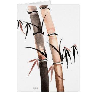 Cartão do bambu da chuva