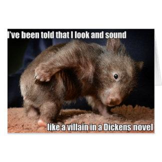 Cartão do bandido de Dickens