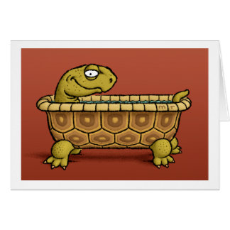Cartão do banho da tartaruga