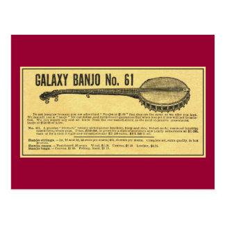 Cartão do banjo da galáxia