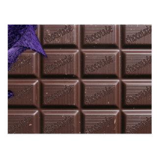 cartão do bar de chocolate, cartão do bar de