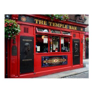 Cartão do bar vermelho do bar do templo em Dublin