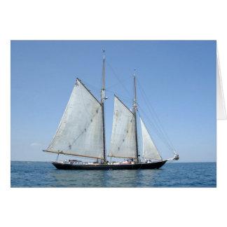 Cartão do barco de vela do vintage