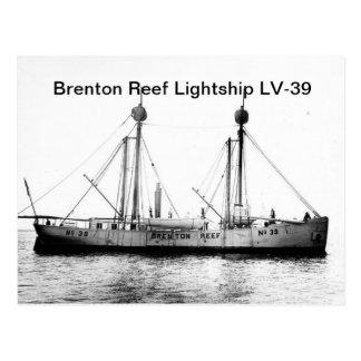 Cartão do barco-farol LV-39 do recife de Brenton