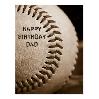 Cartão do basebol do pai do feliz aniversario
