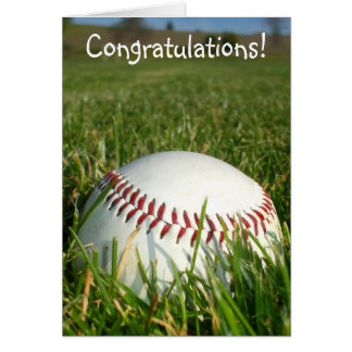 Cartão do basebol dos parabéns