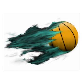 Cartão do basquetebol do fogo