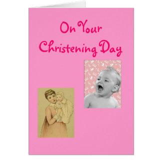 Cartão do batismo das meninas