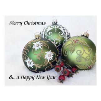 Cartão do bauble do Feliz Natal & do feliz ano