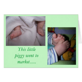 Cartão do bebê (bebês)