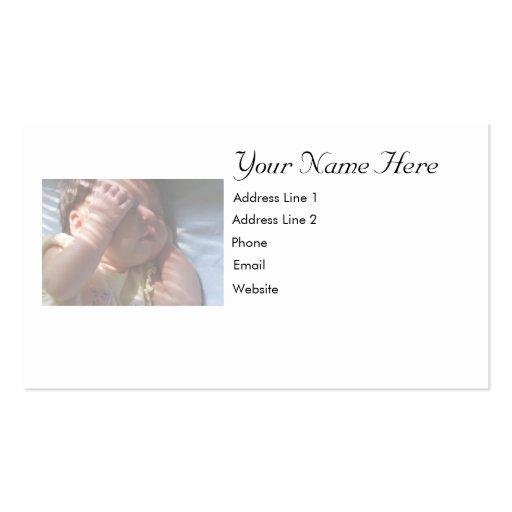 Cartão do bebê modelos cartoes de visitas