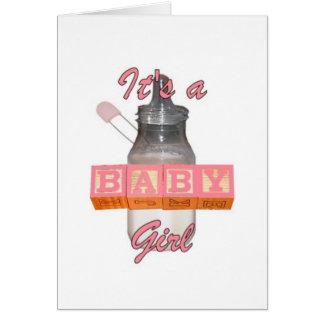 Cartão do bebê da carga útil