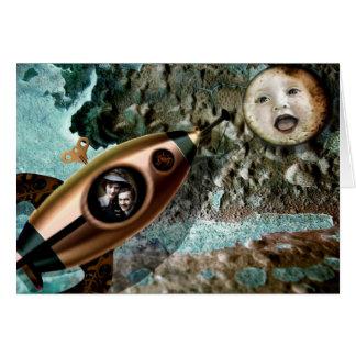 Cartão do bebê da lua