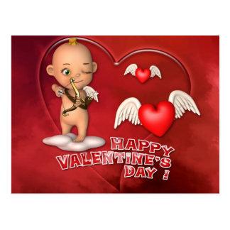 Cartão do bebê de Toon do dia de são valentim Cartoes Postais