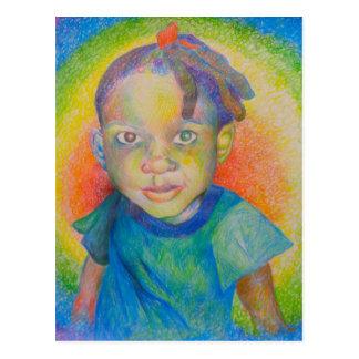 Cartão do bebê do arco-íris