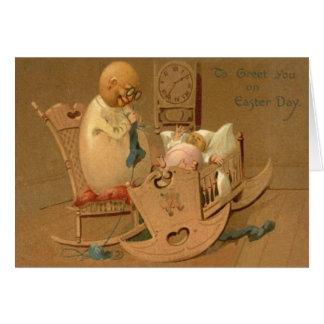 Cartão Do bebê do ovo da páscoa do pulso de disparo