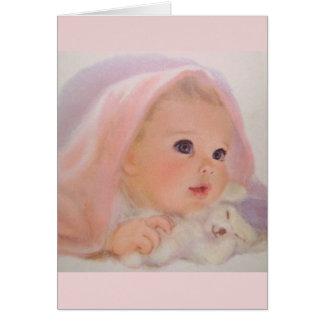 Cartão do bebê do vintage