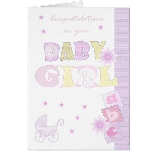 Cartão do bebé dos parabéns, bebê novo