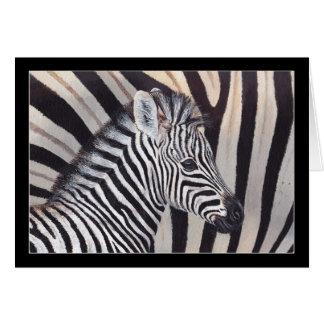 Cartão do bebê e da mamã da zebra das listras