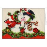 Cartão do beijo do natal vintage