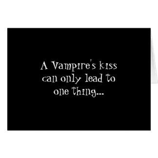 Cartão do beijo do vampiro
