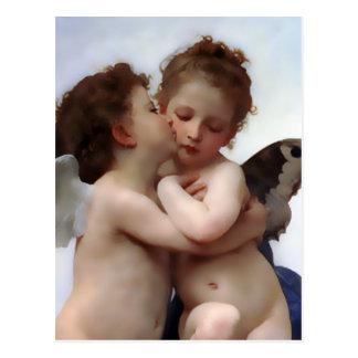 Cartão do beijo dos anjos cartões postais