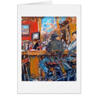"""Cartão Do """"beira-rio café"""" por Linda Mitchell"""