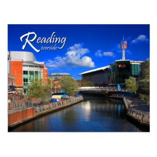 Cartão do beira-rio da leitura