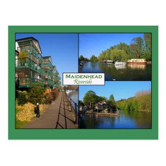 Cartão do beira-rio de Maidenhead