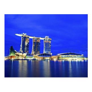 Cartão do beira-rio de Singapore