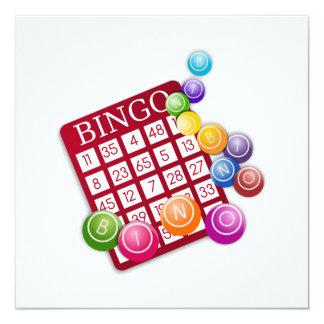 Cartão do BINGO com passadores do Bingo Convite Quadrado 13.35 X 13.35cm