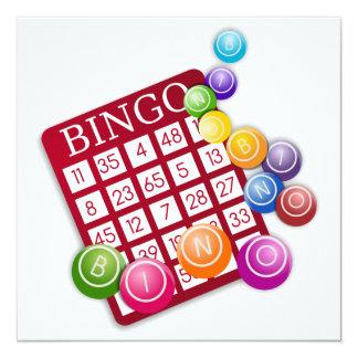 Cartão do BINGO Convite Quadrado 13.35 X 13.35cm