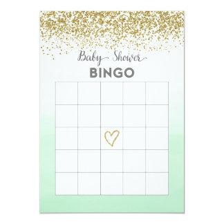 Cartão do Bingo do chá de fraldas da hortelã e do Convite 12.7 X 17.78cm