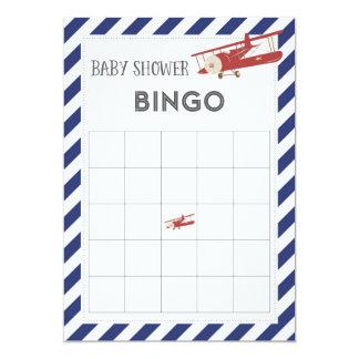 Cartão do Bingo do chá de fraldas do avião Convite 12.7 X 17.78cm