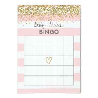 Cartão do Bingo do chá de fraldas do brilho do Convite 12.7 X 17.78cm