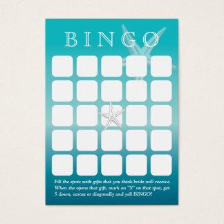 Cartão do Bingo do chá de panela da estrela do mar
