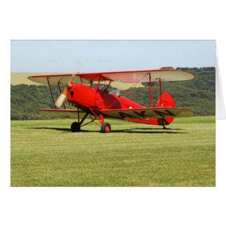 Cartão do biplano de de Havilland Tigermoth