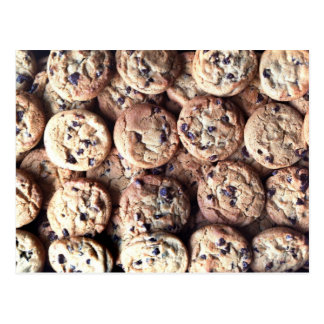 Cartão do biscoito dos pedaços de chocolate