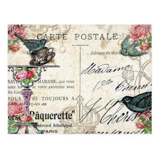 Cartão do Bluebird de Paris do chique