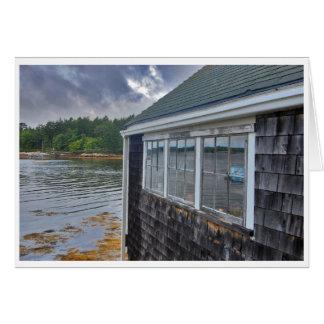 Cartão do Boathouse das bordas do feriado