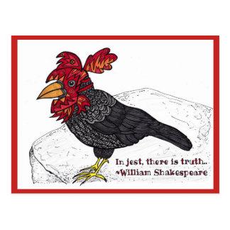 Cartão do bobo da corte do corvo