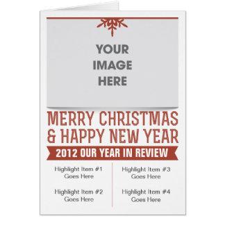 Cartão do boletim de notícias do feriado